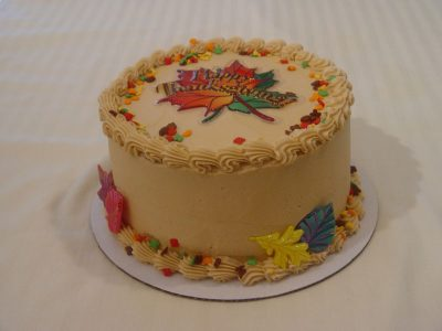 Thanksgiving Leaf Cake