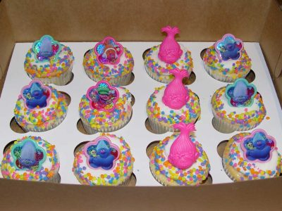 Trolls Sprinkle Cupcakes