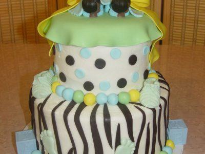 Twin Babies Cake