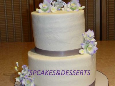 Two Hearts Wedding Cake
