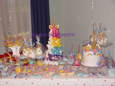 Unicorn Theme Desserts