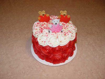 Valentines Bears Cake