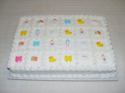 White Baby Cake
