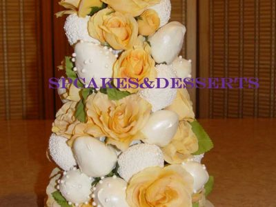 Yellow White Flowers Cake