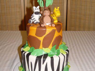 Zebra Cheetah Cake